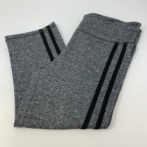 Aviva Sports space dye grey black striped cropped